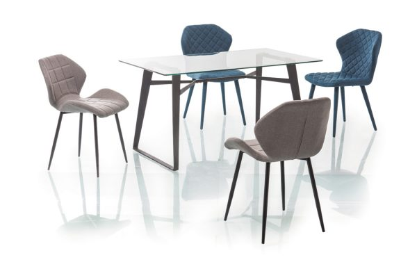 Столы - Стол обеденный SIGNAL BOLT прозрачный/черный