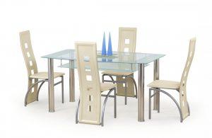 Столы - Стол обеденный CRISTAL (молочный)