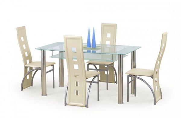 Стол обеденный CRISTAL (молочный)