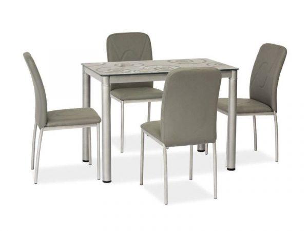 Стол обеденный DAMAR (черный) 80