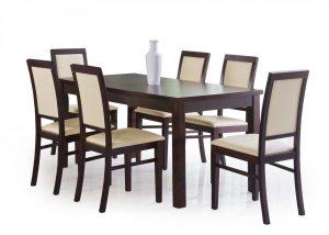 Столы - Стол обеденный ERNEST 160/200 (темный орех)
