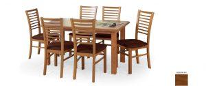 Столы - Стол обеденный EMIL раскладной (античная черешня) 140-180/80/74