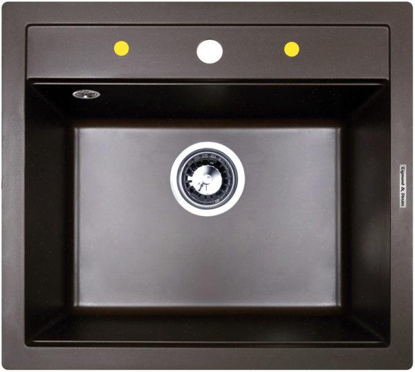 Кухонная мойка Zigmund & Shtain PLATZ 560 Швейцарский шоколад