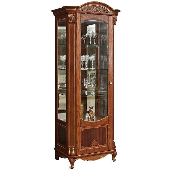 Шкаф с витриной «Альба 8» П485.08-01 Пинскдрев