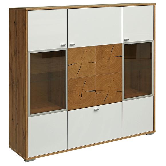 Шкаф с витриной «Гелиос» П550.02 Пинскдрев