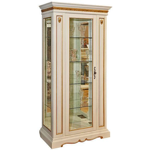 Шкаф с витриной «Милана 8» П265.08-01  Пинскдрев