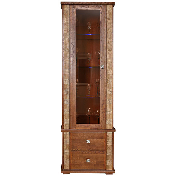 Шкаф с витриной «Тунис» П343.19Ш  Пинскдрев