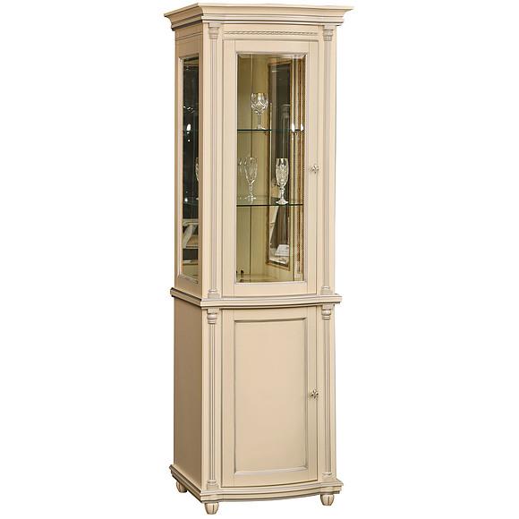 Шкаф с витриной «Валенсия 1.1з» П244.14.1  Пинскдрев