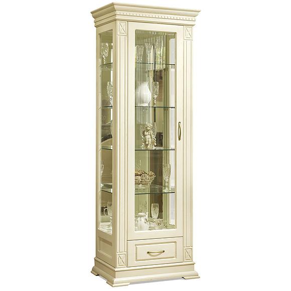 Шкаф с витриной «Верди Люкс 1з» П487.11з-01  Пинскдррев