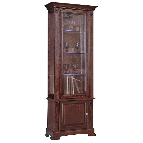 Шкаф с витриной «Пьемонт» П518.19 Пинскдрев