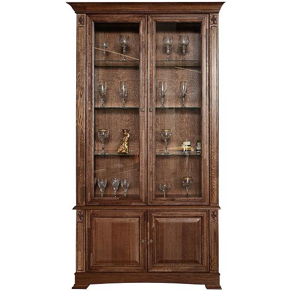Мебель для гостиной - Шкаф с витриной «Пьемонт» П518.20 Пинскдрев