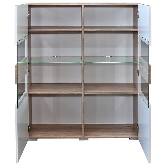 Шкаф с витриной «Арно» П448.02 Пинскдрев