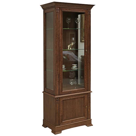 Шкаф с витриной «Пьемонт» П518.26 Пинскдрев
