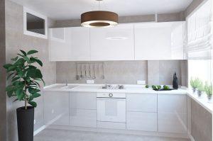 ЕВРОDOM - Кухня Белая Пластик
