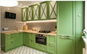 Кухня МДФ крашеный (эмаль)  Зелень