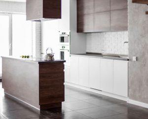 ЕВРОDOM - Кухня с островом Пластик+ЛДСП