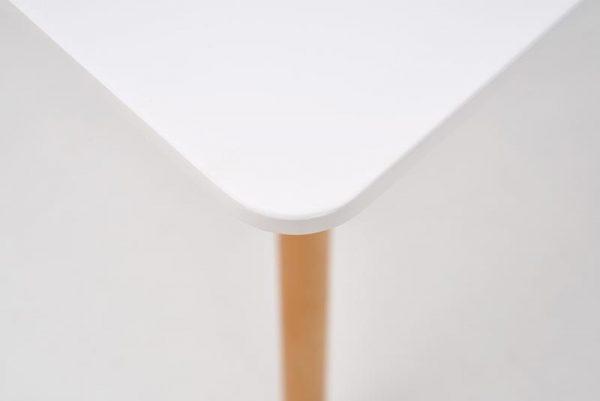 Стол обеденный HALMAR PROMETHEUS KWADRAT, белый\бук, 80/80/75