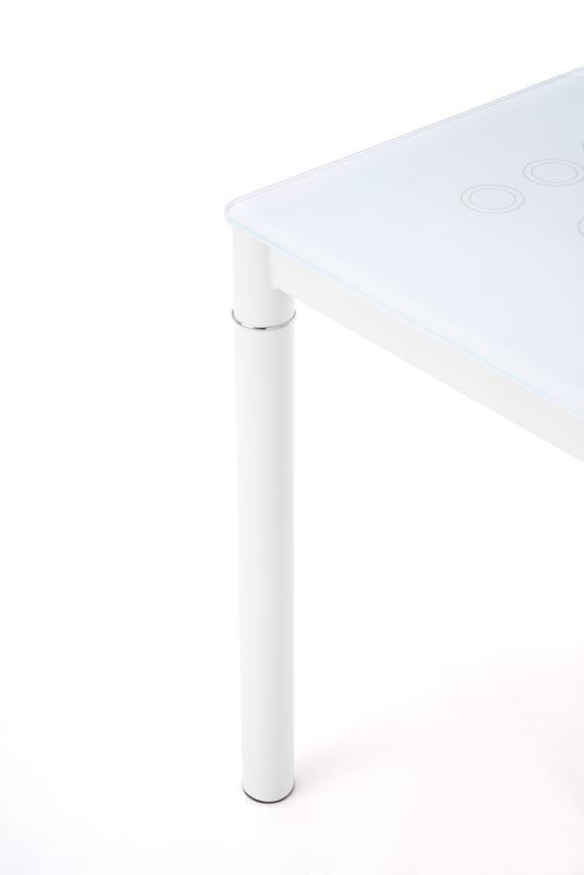 Стол обеденный HALMAR ARGUS молочно\белый, 100/60/75