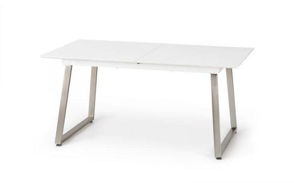 Стол обеденный HALMAR THOMAS раскладной, бело\серый, 160-200/90/75