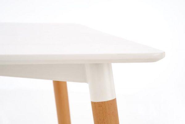 Стол обеденный HALMAR SOCRATES белый\бук, 120/80/74