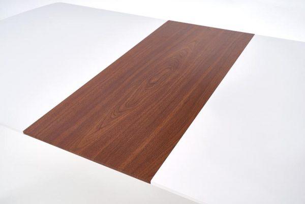 Стол обеденный HALMAR RICHARD раскладной, белый\ант. черешня, 150-190/90/75