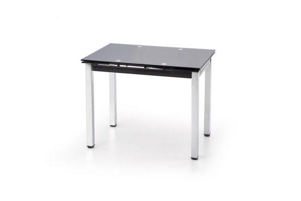 Стол обеденный HALMAR LOGAN раскладной, черный, 96-142/70/75