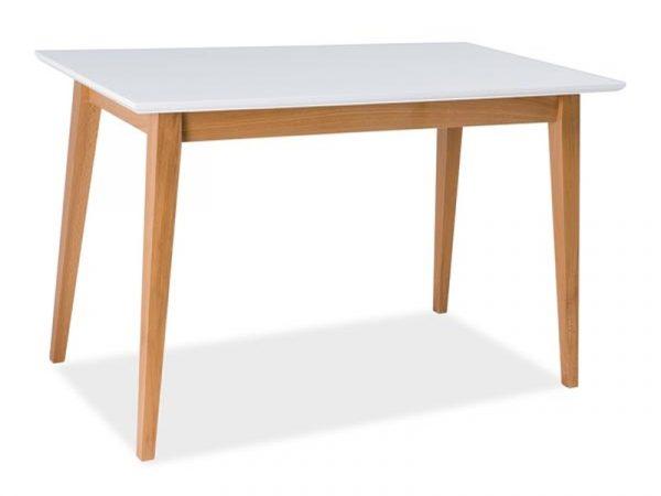 Стол обеденный SIGNAL BRAGA белый\бук, 120/68/76