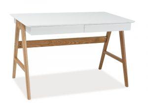 Столы - Стол компьютерный SIGNAL SCANDIC B1 дуб\белый, 120/70/75
