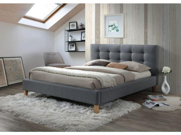 Кровать SIGNAL TEXAS серая 160/200