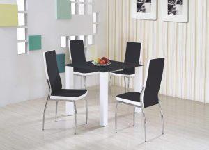 Стол обеденный HALMAR MERLOT квадратный, черный, 80/80/75