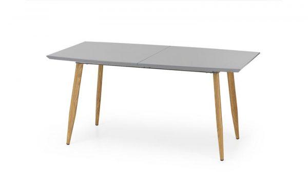 Стол обеденный HALMAR RUTEN раскладной, серый\дуб медовый, 160-200/90/76