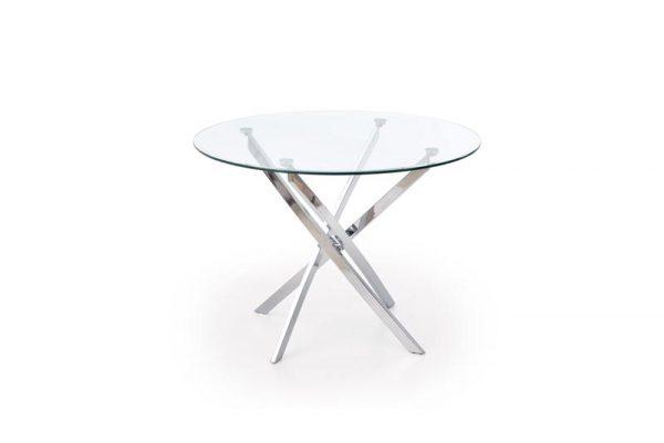 Стол обеденный HALMAR RAYMOND бесцветный\хром, 100/73