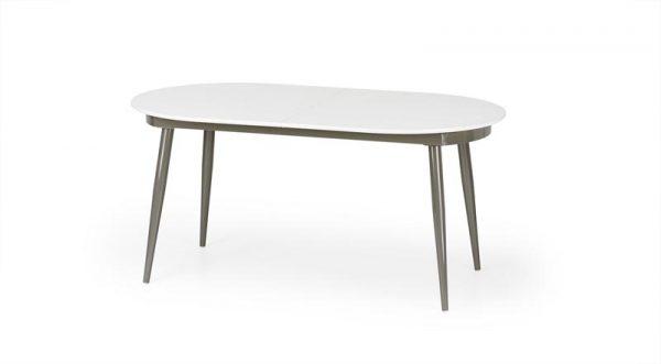 Стол обеденный HALMAR CRISPIN раскладной, бело\серый, 160-200/90/76