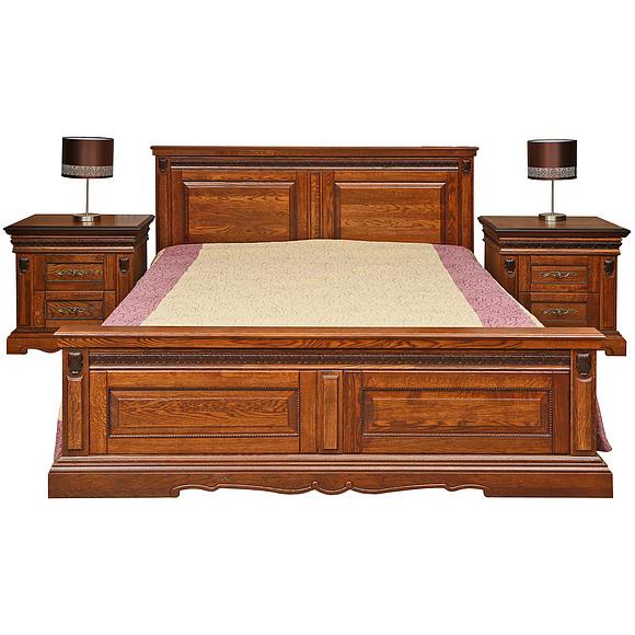 Кровать двойная «Милана» высокое изножье Пинскдрев