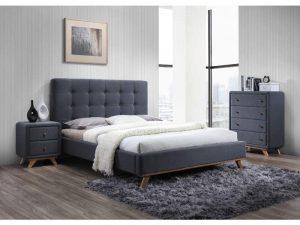 Кровать SIGNAL MELISSA серая 160/200