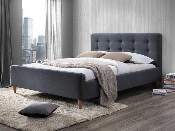 Кровать SIGNAL PINKO серая 160/200