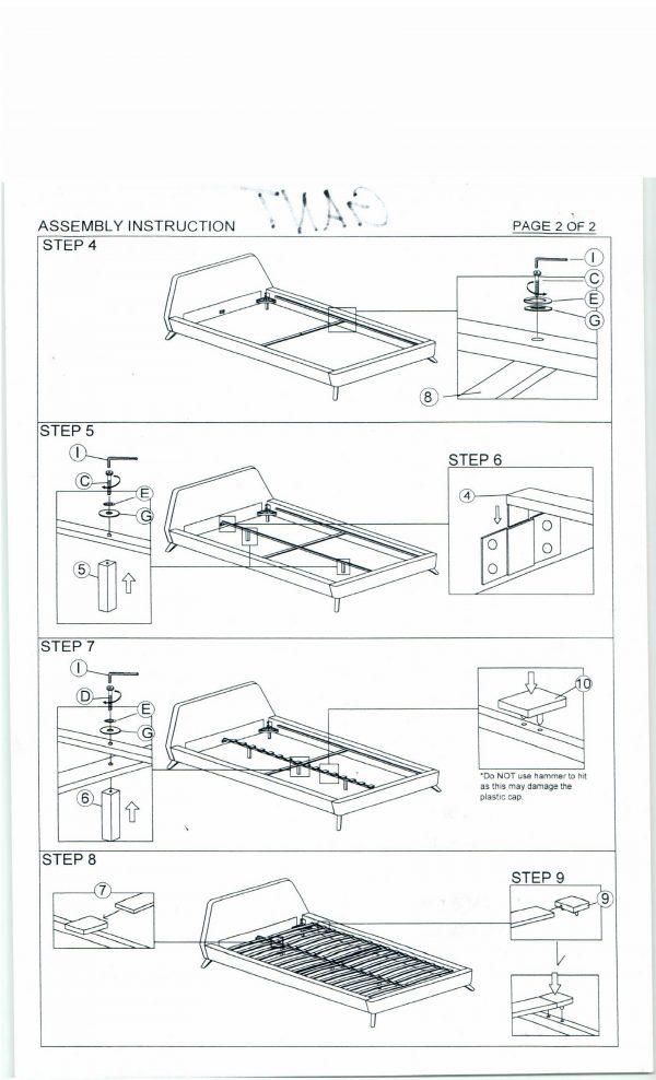 Кровать SIGNAL GANT бирюзовая 160/200