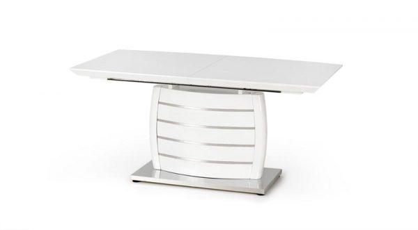 Стол обеденный HALMAR ONYX, раскладной, белый, 160-200/90/76