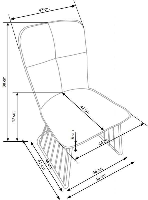 Стул HALMAR K269 светло-коричневый/черный NEW