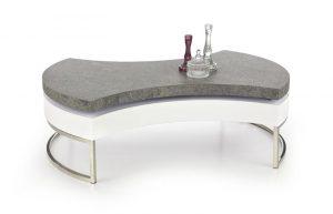 Столы и стулья - Стол журнальный HALMAR AUREA 2 белый\серый, 115/80/38