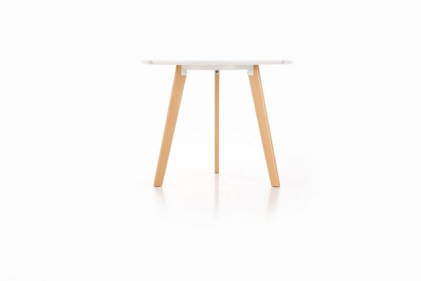 Стол обеденный HALMAR EXPRESS белый/бук, 90/76 NEW