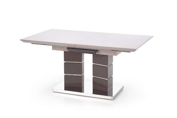 Стол обеденный HALMAR LORD раскладной, св.серый/т.серый, 160-200/90/75