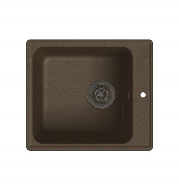 LEX Balaton 420 Chocolate Кварцевая кухонная мойка