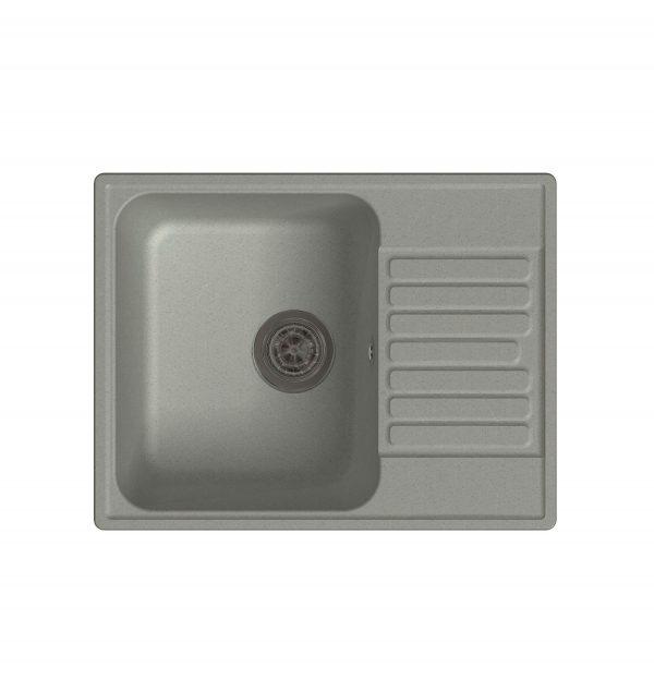 LEX Garda 620 Space Gray Кварцевая кухонная мойка