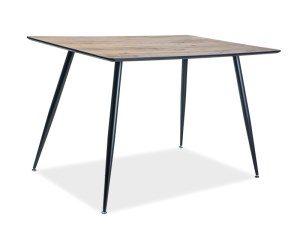 Стол обеденный SIGNAL REMUS 120 орех/черный, 120/80/75 NEW