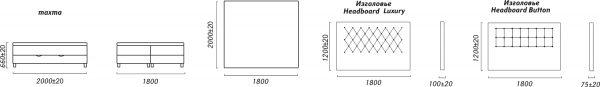 Кровать двойная «BED BOX Nr4 (Бед Бокс Nr4) 18М» Пинскдрев