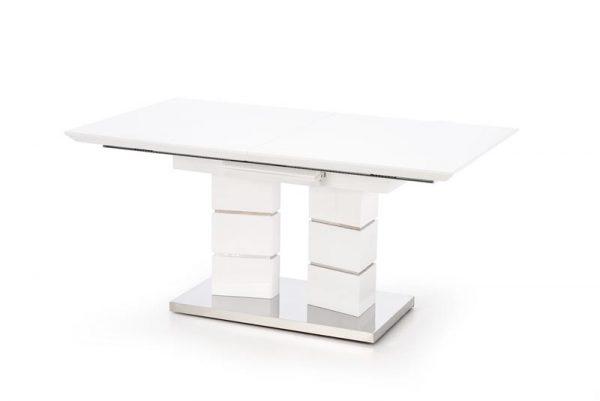 Стол обеденный HALMAR LORD раскладной, белый, 160-200/90/75