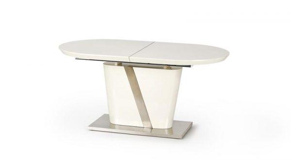 Стол обеденный HALMAR IBERIS раскладной, кремовый\серый, 160-200/90/76