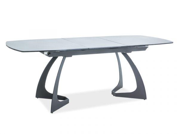 Стол обеденный SIGNAL MARTINEZ CERAMIC 160 раскладной, серый/черный 160-210/90/76 NEW
