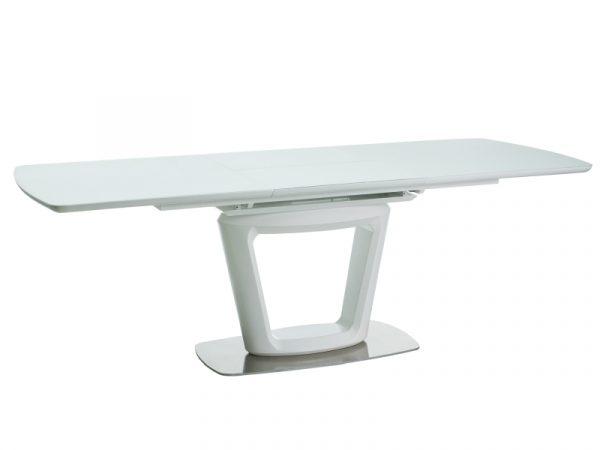 Столы - Стол обеденный SIGNAL CLAUDIO II 160 раскладной, белый матовый 160-220/90/76 NEW